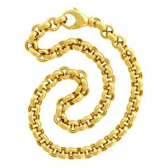 Heavy Every Day Gold Rollo Link Necklace