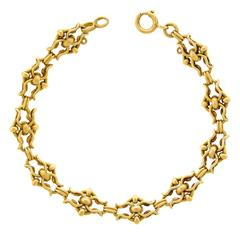 Charming Baroque Link Gold Bracelet
