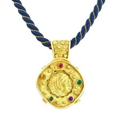 Denise Roberge Classical Motif Gold Pendant