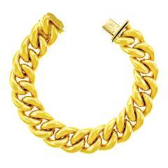Tannler of Zurich Heavy Fashion Link Gold Bracelet