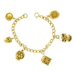 Antique Gold Charm Bracelet