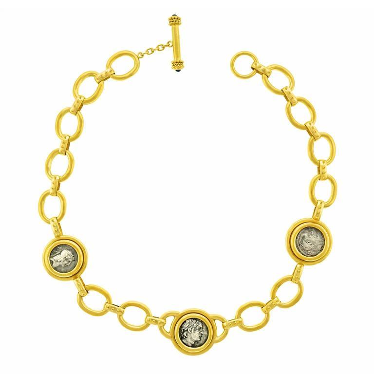 Elizabeth Locke Ancient Coin Gold Necklace 1