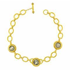 Elizabeth Locke Ancient Coin Gold Necklace