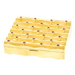 Fabulous 1950s Bamboo Motif Gold Box