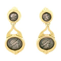 Trabert and Hoeffer Ancient Coin Earrings