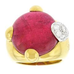 Pomellato Griffe Tourmaline Gold Ring