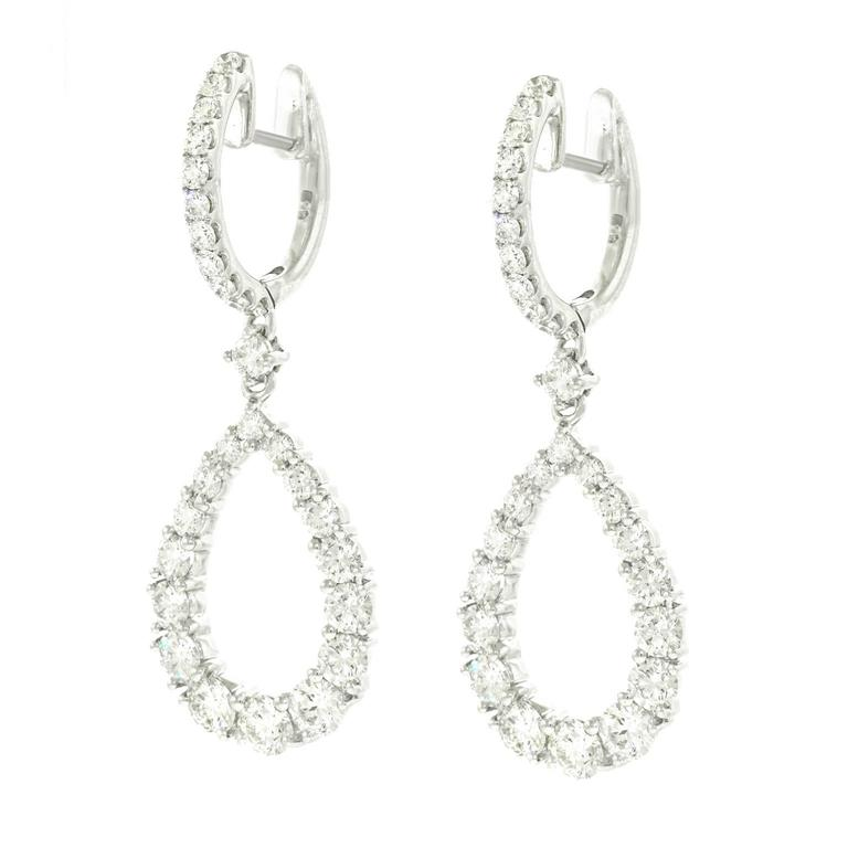 Chic Diamond Chandelier Earrings