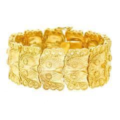 Fabulous Sixties Organo-Chic Gold Bracelet