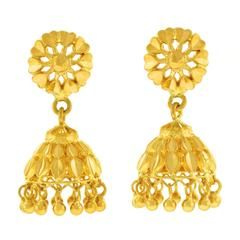 22 Karat Gold Mogul Style Earrings