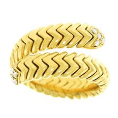 "Bulgari ""Spiga"" Diamond-Set Snake Ring"