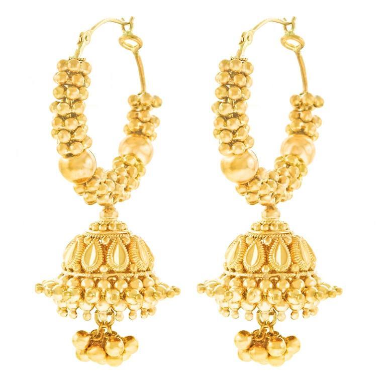 22k Mogul Gold Hoop Earrings
