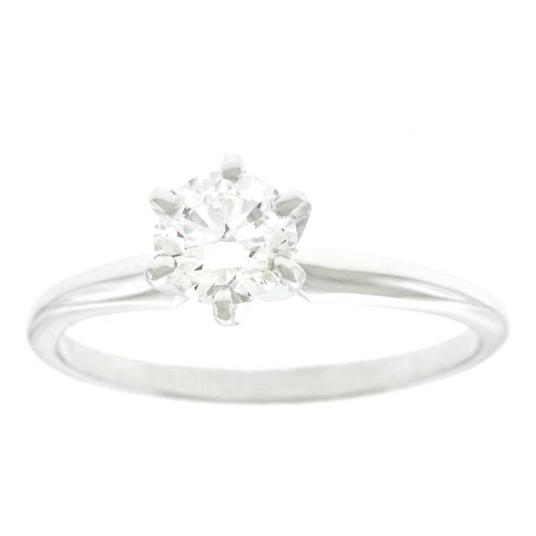 .60 Carat Diamond Engagement Ring F VVS2 GIA For Sale