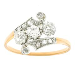 1920s Art Deco Diamond Gold and Platinum Ring