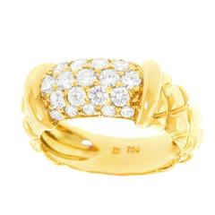 Chic Diamond Pave Gold Ring