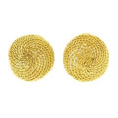 Tiffany & Co. Twisted Rope Gold Earrings
