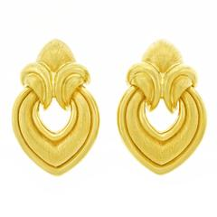 Classic Henry Dunay Gold Earrings, circa 1970