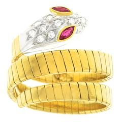 Carl F. Bucherer Gold Snake Ring
