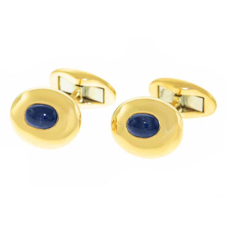 1950s Sapphire & Gold Cufflinks
