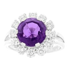 Emil Meister Amethyst Diamond-Set Gold Ring