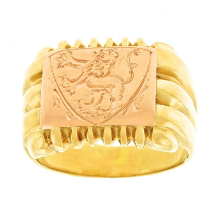 Antique Gold Signet Ring