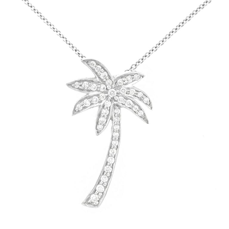 aaf1db52b Tiffany and Co. Diamond-Set Palm Tree Platinum Pendant at 1stdibs