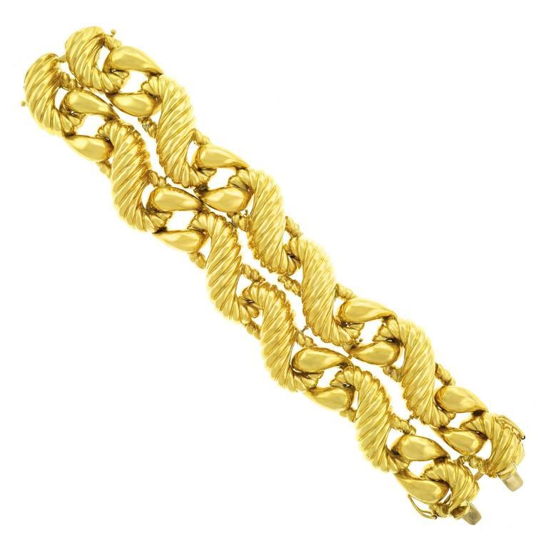Fabulous 1970s Chunky Italian Gold Bracelet