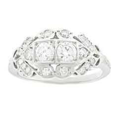 Art Deco Diamond-Set White Gold Ring