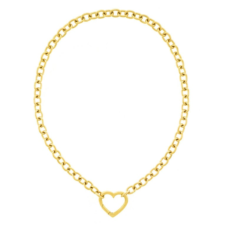Tiffany & Co. Gold Heart Necklace
