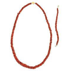 Organo-Chic Coral Necklace and Bracelet