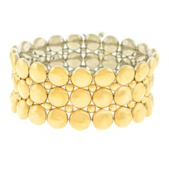 Cartier 1980s Reversible White-Yellow Gold Bracelet