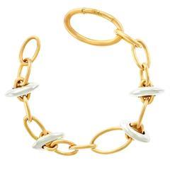 Chic Pomellato White and Rose Gold Bracelet