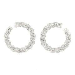 Tannler Diamond-Set Gold Hoop Earrings