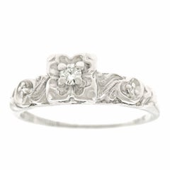 Retro 1940s Diamond Engagement Ring