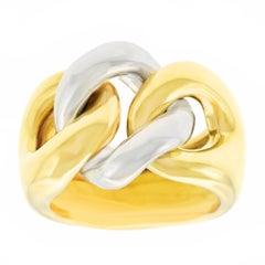 """Pomellato """"Gourmette"""" Two-Tone Gold Ring"""