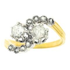 French Art Deco Diamond-Set Gold Ring