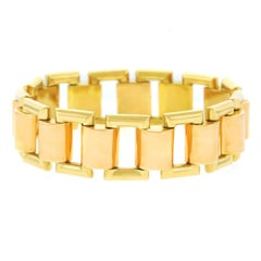 French Art Deco Gold Bracelet