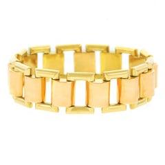 French Art Deco Gold Bracelet