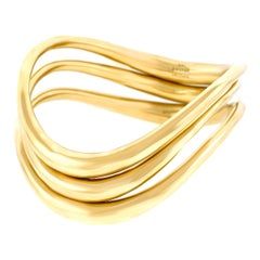 Set of Three Gold Bangles by Timothy Grannis