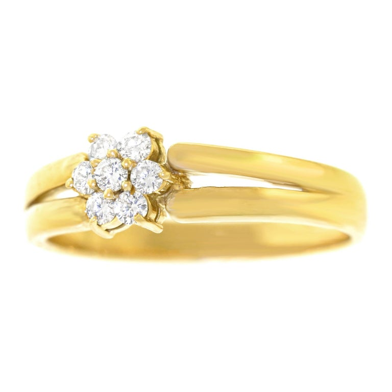 85d334f4e17a 21 Carats Total Weight Diamond Gold Ring For Sale at 1stdibs