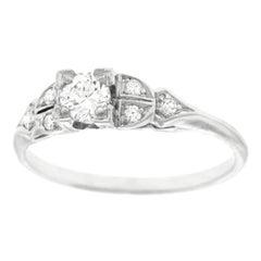 Art Deco Diamond set Platinum Engagement Ring
