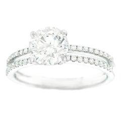 1.40 Carat F VS Diamond Engagement Ring GIA