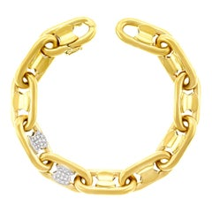 Abel & Zimmerman Diamond Set Gold Bracelet