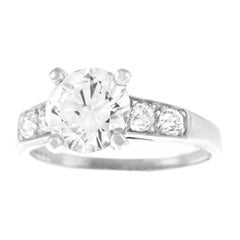 Art Deco 1.77 Carat Diamond White Gold Engagement Ring by the Lambert Bros