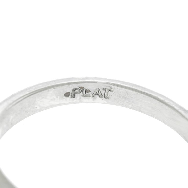 1.11 Carat Diamond Engagement Ring in Platinum GIA For Sale 1