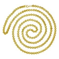 Art Deco Gold Necklace