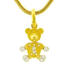 Pomellato Diamond Set Gold Teddy Bear Charm
