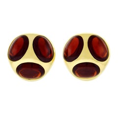 Pomellato Garnet Set Gold Earrings