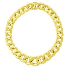 Fabulous 1970s Gold Link Necklace
