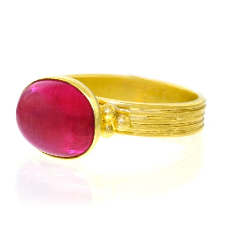 Maija Neimanis Archaic Motif High Karat Gold Ring 9