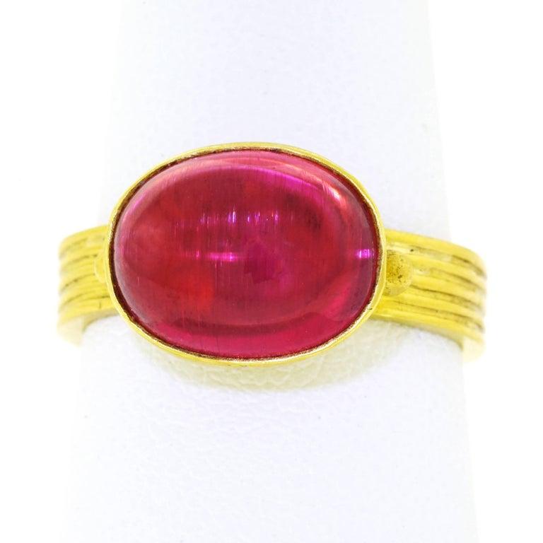Maija Neimanis Archaic Motif High Karat Gold Ring 8